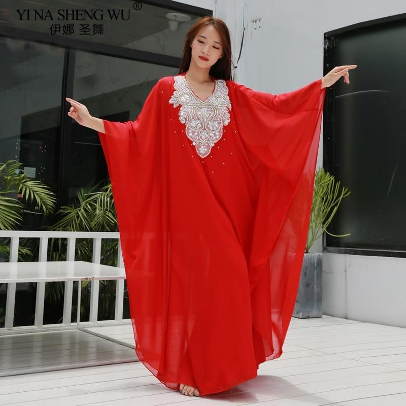 Belly Dance Costume Long Robe Perforamce Oriental Dance Swing Tribal Khaleegy Skirt New For Women Stage Wear Bellydance Dress