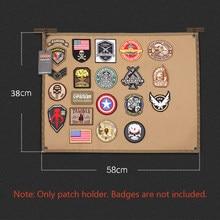 Tático remendo placa de exibição suporte de remendo esteira dobrável para id militar diy emblema pasta almofada remendos ferramenta organizador