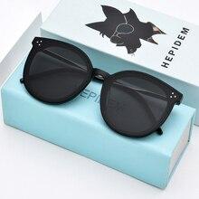 HEPIDEM جديد وصول النظارات الشمسية المستديرة الرجعية الرجال النساء لطيف العلامة التجارية تصميم مكبرة طلاء خمر معكوسة UV400 جرام جاك مرحبا