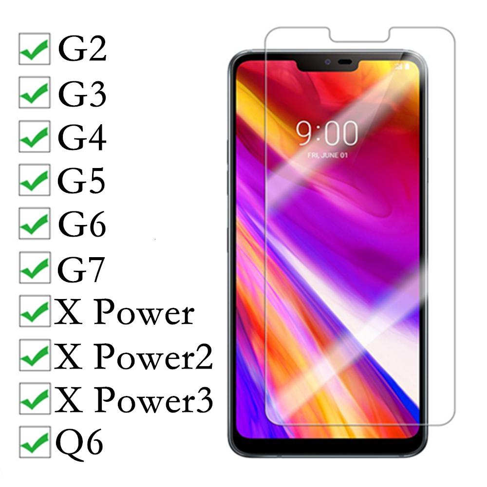 2 5D Tempered Glass for LG x power 2 3 Screen Protector for lg g6 g7