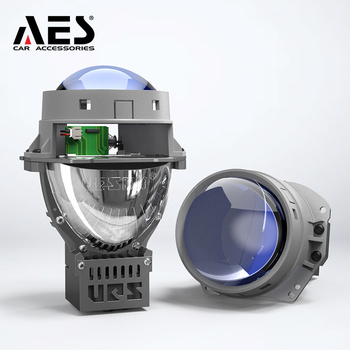 AES Top Quality Bi-LED Projector Lens With Blue tint Lens 6000K LHD & RHD Hi Low beam LED Headlight shuoke mini 2 5 inch bi led projector lens 6000k retrofit car motorcycle projector headlight led high low beam projector