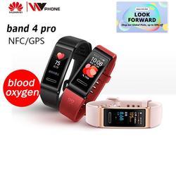 Huawei Band 4 pro SmartBand монитор сердечного ритма автономный gps проактивный мониторинг здоровья SpO2 кислорода в крови