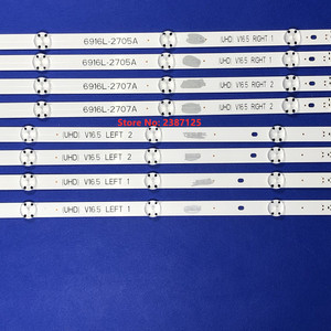 Image 3 - 8PCS LED Backlight Strip for 49inch TV LG 49UH603V 49UH620V LC490DGE 6916L 2705A 6916L 2706A 6916L 2707A 6916L 2708A 49LJ510T