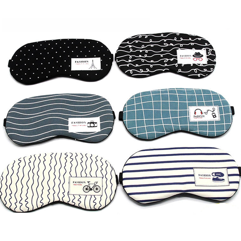 Cotton Linen Eyeshade Sleeping Mask Soft Eye Cover Sleep Mask Travel Eyepatch Rest Eye Band Sleeping Aid Eye Patch Blindfolds