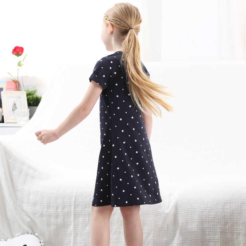 תינוקת שמלת ילדי תחפושת נסיכת שמלות כותנה Vestidos ילדי שמלה עבור בנות בגדי Teen מקרית בית ספר שמלת 1-13Y