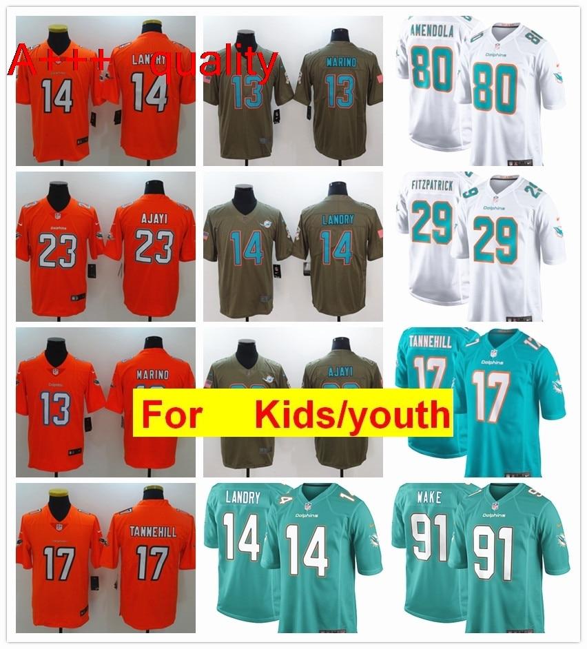 innovative design a2ebe e6099 US $6.99 |youth kids s Miami Minkah Fitzpatrick Dan Marino Ryan Tannehill  Kenny Stills Jarvis Landry football jerseys on Aliexpress.com | Alibaba ...