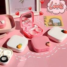 Draagbare Contact Lens Case Reizen Bril Lenzen Box Vrouwen Meisjes Cartoon Glazen Soaking Opslag Accessoires Ogen Care