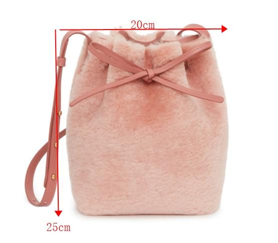 [BXX] 2020 Autum Winter PU Leather Bucket Bags Branded Shoulder Handbags Female Cross Body Small Hand Bag Fashion 8D003