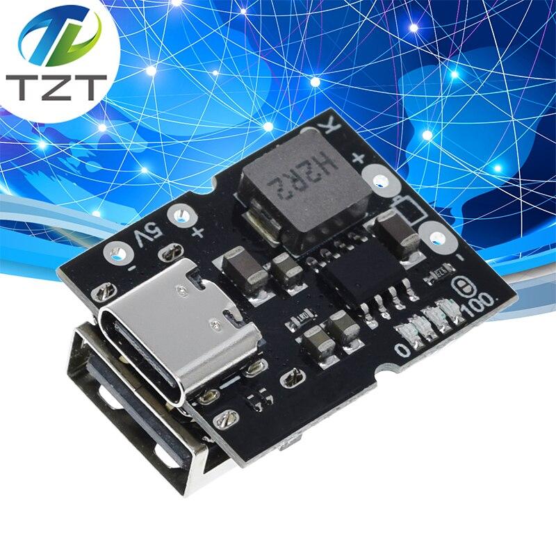 Повышающий преобразователь USB Type-C 5 в 2 А, модуль питания для зарядки литиевых аккумуляторов, защитная плата светодиодный дисплеем, USB для зар...