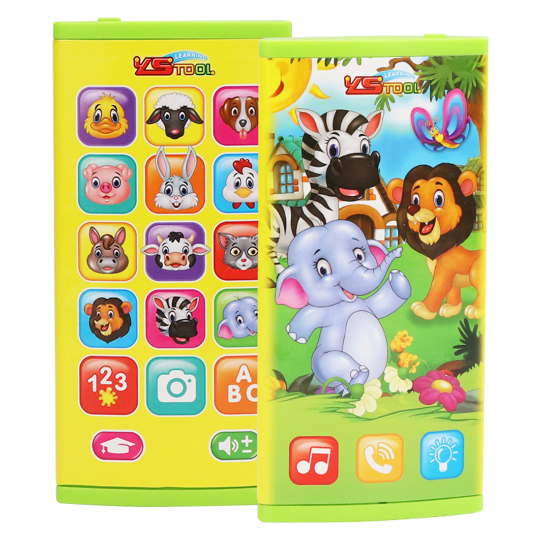 Hot Animal Theme Double-Sided Screen Multi-Function Mobile Phone Early Learning Educational Toy For 2-3 Years Old Toddler Gift