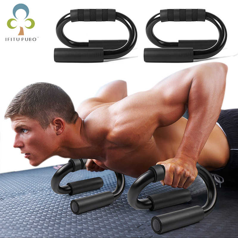 1Pcs S-Type Fitness Push Up Bar Push-Ups Stands Bars Voor Building Borst Spieren Thuis Of gym Oefening Training Yjn
