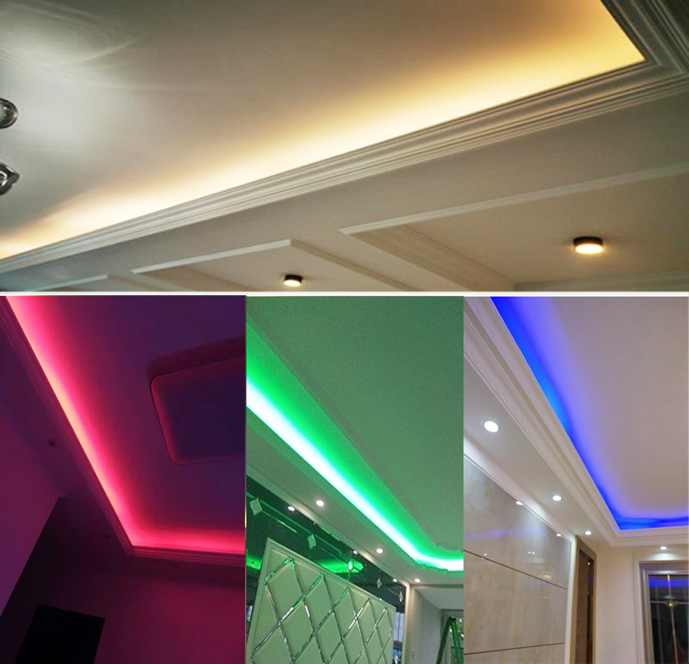 SPLEVISI Super Bright WarmWhite White 5m DC 24V LED sloksne 5050 - LED Apgaismojums - Foto 3