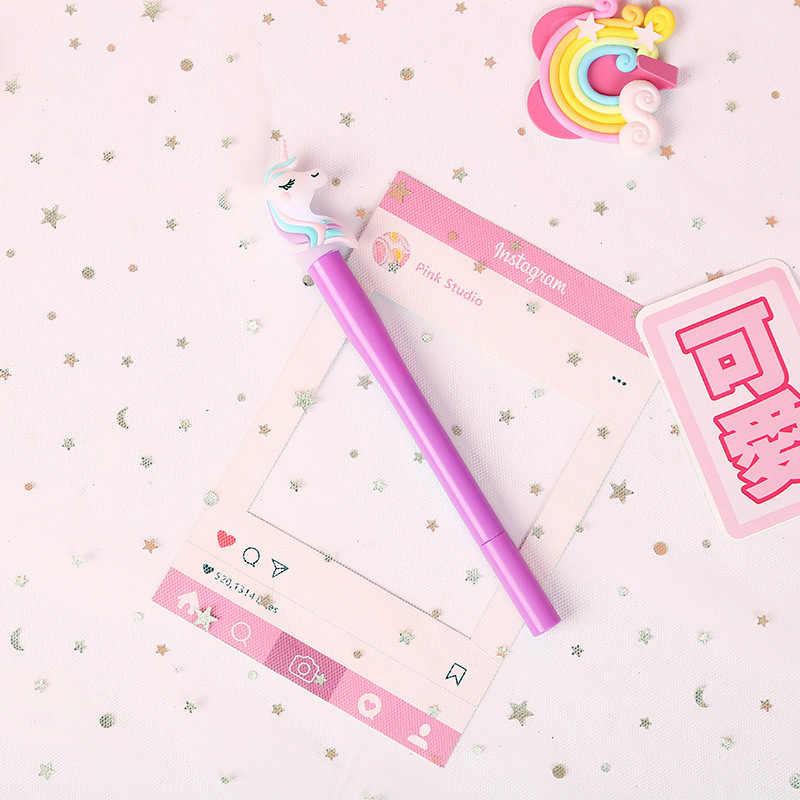 NewParty Decoration Kawaii Unicorn Light Silica Head Gel Pen nowość pióro neutralne dla dzieci prezent zaopatrzenie szkolne piękny DIY Holiday