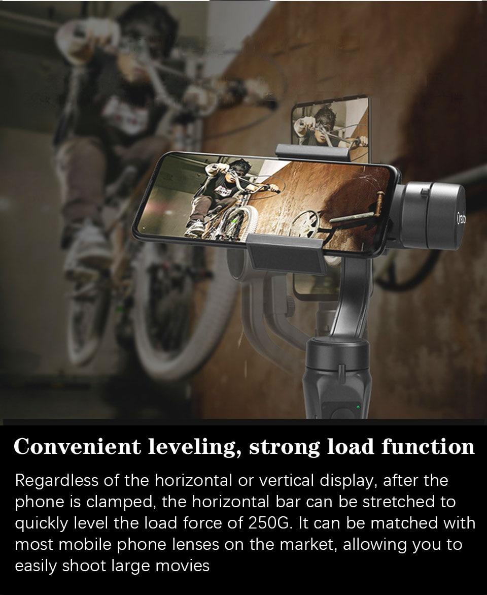 Orsda app h4 3-axis cardan estabilizador gopro