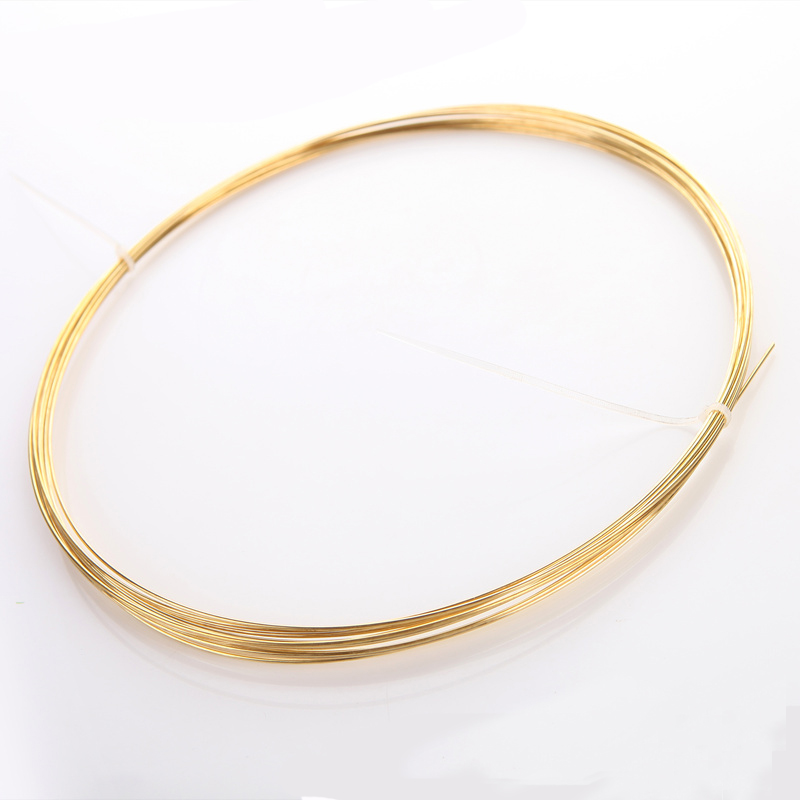 1Meter H62 Brass Wire Golden Conductive Copper Line  Rod Industry Experiment DIY Wires Material 0.3 0.5 0.8 1 2 3 4 Mm