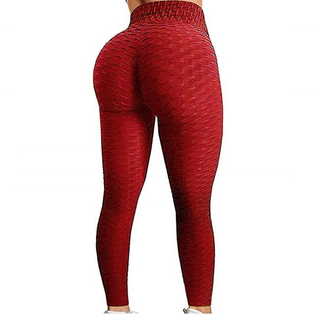 Mallas push up anticelulitis para mujer, leggings de fitness, sexy, de cintura alta, color negro, entrenamiento, talla grande 2