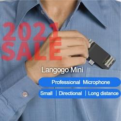 Langogo Mini+Notta Voice recorder microphone Receive sound  long distances 104 languages transcribed