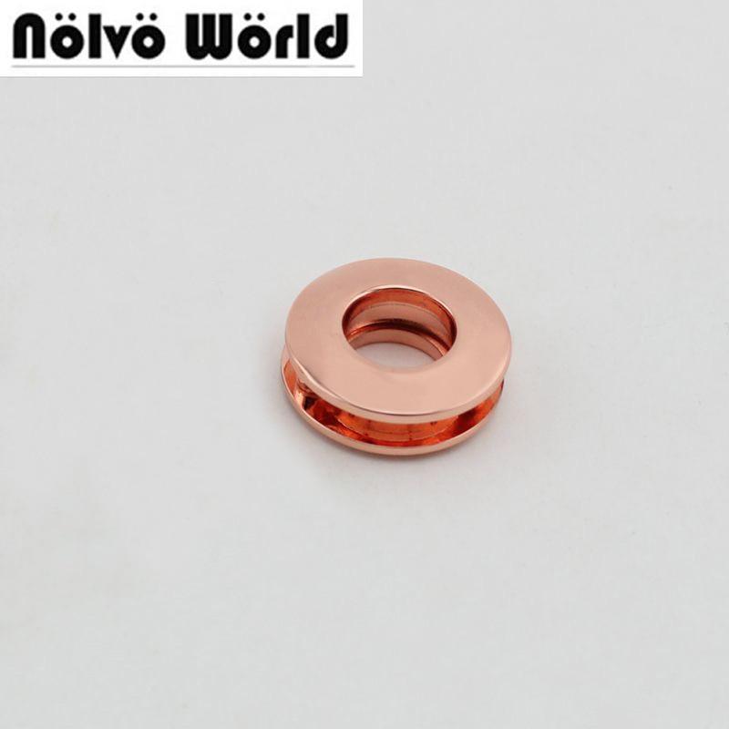 Rosa de Alta Redondos com Parafusos Pces Grommet Ouro Qualidade Fundição Moda Bolsas Cintos Metal Acessório Ilhós 10 100 10mm