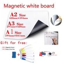 Магнитная доска мягкий школьный дом офис кухня магнит сухостираемая доска белые доски магнитные наклейки на холодильник подарок 7Pen 1Erasser