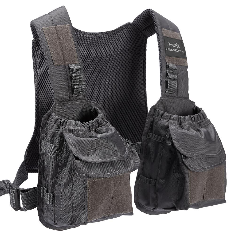 Bassdash D96 Fly Fishing Vest Tactical Chest Pack For Men Women Adjustable Sizes