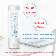ماكس H2 3700 ppb SPE التكنولوجيا دوبونت أيون غشاء الهيدروجين تركيز آلة صنع الماء بالمزيد من الهيدروجين و مولد ماء الهيدروجين
