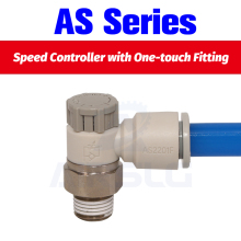 10pcs/lot Speed Controller with One-touch Fitting  Throttle valve Pneumatic fitting AS1201 AS2201F 3201F 4 6 8 10mm hose
