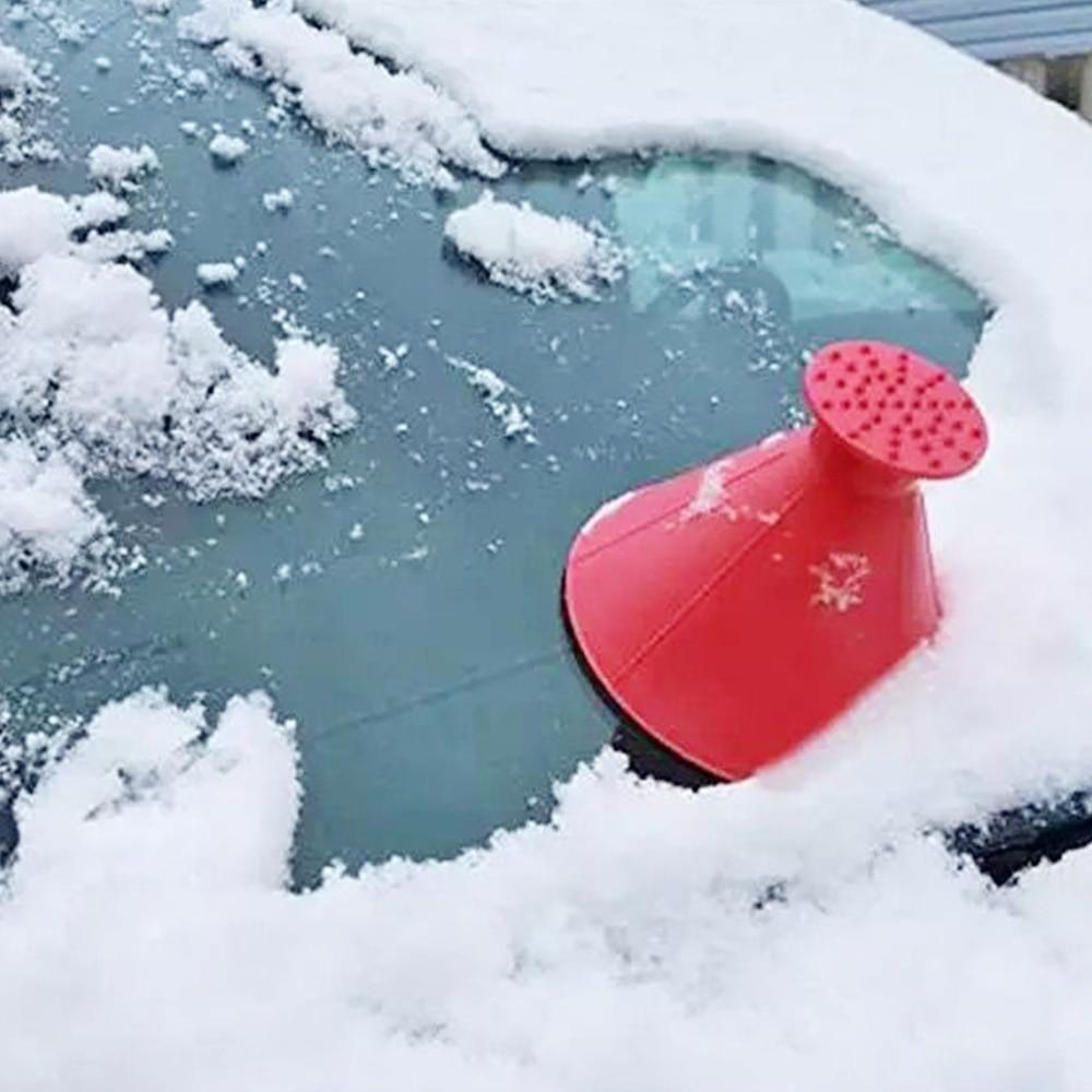 Car Windshield Ice Scraper Funnel Snow Remover Shovel Window Scrapers Cone Deicing Tool Scraping