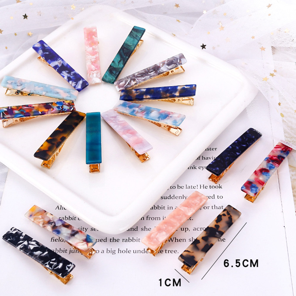 2019 New Arrival 1pc Japan Women Girls Acetic Acid Hair Clips Hairpins Print Barrettes Lady Pins Hairgrips Hair Accessories