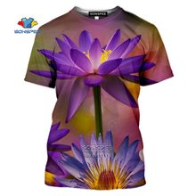 Sonspee фиолетовые цветы лотоса футболка для мужчин 3d Футболка