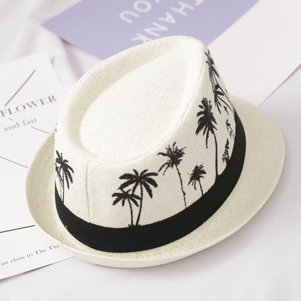 Summer Sun Protection Sombrero Beach Casual Travel Fashion Men Sun Hat Wide Brim Trilby Straw Panama Fedora Caps