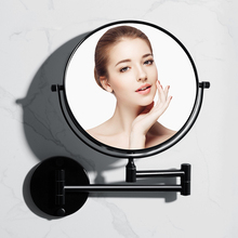 Bathroom Accessories Beauty Mirror Black Wall-mounted Makeup Folding Magnifying Glass Mirrors