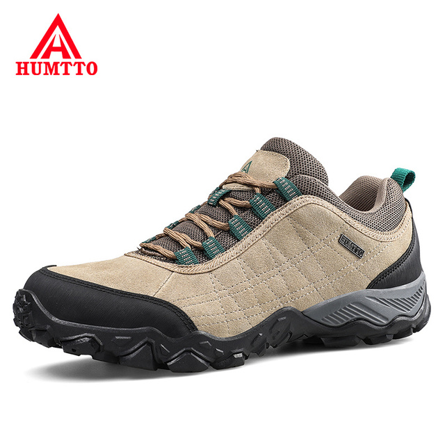 Humtto New Arrival Leather Hiking Shoes Wear-resistant  Outdoor Sport Men Shoes Lace-Up Mens Climbing Trekking Hunting Sneakers 1