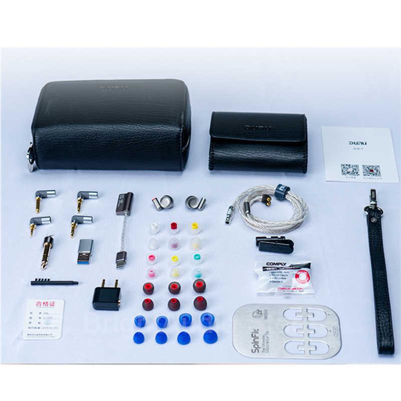 DUNU LUNA flagowy 10mm akustyczny czysty berylu sterownik słuchawki douszne IEM, etui ze stopu tytanu, odłączany kabel MMCX