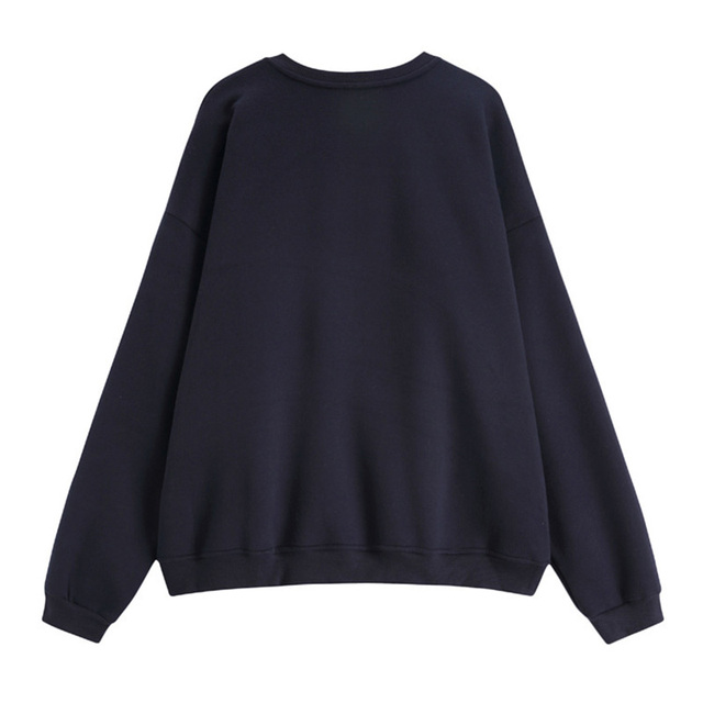 NANCY TINO Spring and Autumn Fashion Ladies Soft Thick Pullover Loose Polyester Long Sleeve Hoodie 2