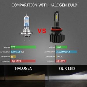 Image 5 - Cnsunnylightスリムcsp led車のヘッドライトの球根H4 H7 H11/H8 H1 9005 9006 H13 9004 H27 H3 42 ワット 7000Lm 5500 18k自動ヘッドランプフォグランプ