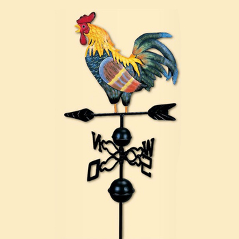 Metal Weather Vane Vintage Rooster - 47'' Cast Iron Rooster Garden Weathervane Wind Speed Spinner Direction Indicator Ornament calt digital analog wind direction sensor transmitter 5volts wind vane anemometer in weather station