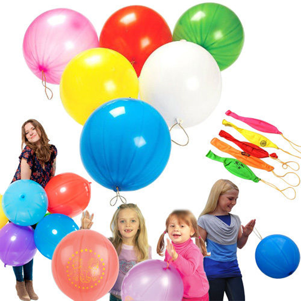 12 Pieces Fun Express ST Patricks Day Punch Balloon Toys