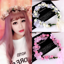 rattan flower Headbands for girls women headwear party supplies Hair Accessories bridal Floral flowers Wreath