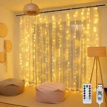 3m LED cortina cadena luz Flash guirnalda boda Mesa decoraciones para Baby shower es a niña niño Primer cumpleaños fiesta despedida de soltera