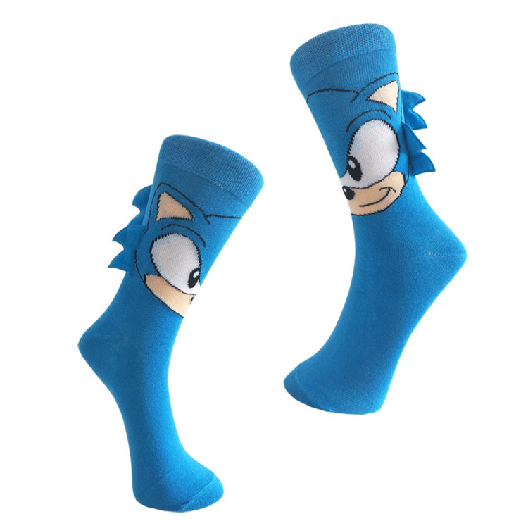 Happy Socks Men Sonic The Hedgehog Joker Novelty Novedades Cartoon Socks Cotton Men Sock 605W