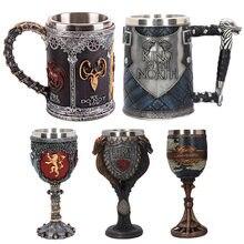 Cerveza tazas de café 3D gótico Copa Trono de Hierro jarra de acero inoxidable resina jarra vaso de vino de Año Nuevo de Navidad los regalos