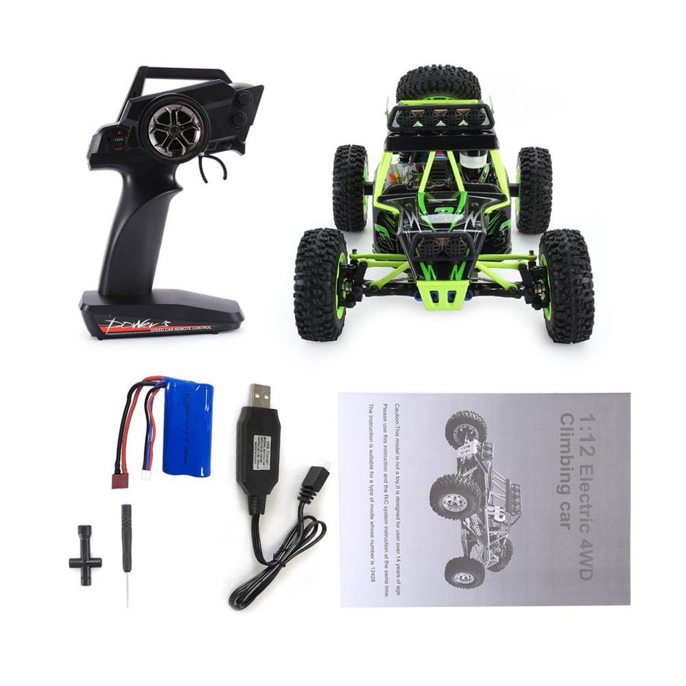 Wltoys 12428 50KM H High speed RC Climbing Car Toy 1 12 Scale 2 4G 4WD Off road vehicle Remote Control RC Car Toys Kids Gift in RC Cars from Toys Hobbies