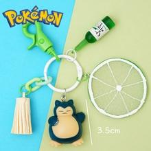 Такара Томи Покемон иди аниме Солнце и Луна Snorlax брелок фигурку коллекция модель рождественские подарки игрушки для детей