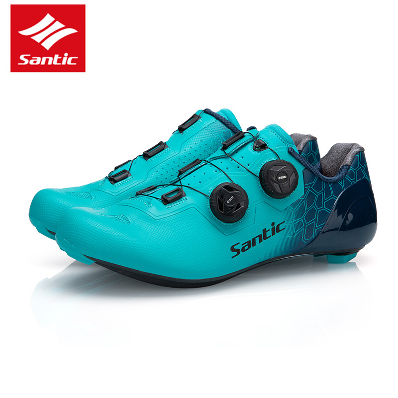SANTIC Cycling Shoes Road Bike Shoes Anti-skid Bicycle Shoes Resistant Profession Self-Locking Shoes Outdoor Sports Sneaker