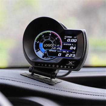 Turbo boost oil pressure temperature gauge for car Afr RPM Fuel Speed EXT Oil Meter LUFI XF English Version OBD2 Plug digital image