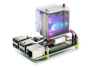 Image 4 - Waveshare ICE Tower CPU Cooling Fan for Raspberry Pi, Super Heat Dissipation, Supports Both Raspberry Pi 4 & 3