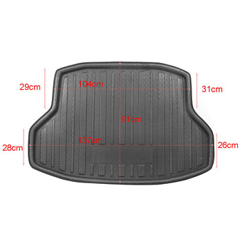 For Honda Civic 2016 Floor Tray Carpet Mud Protector Cover Rear Trunk Cargo Mat Car image