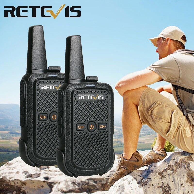 2pcs Retevis RT15 Mini Walkie Talkie Radio 2W UHF Radio Station Scrambler 400-470MHz VOX Two Way Radio Portable HF Transceiver