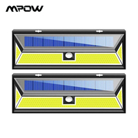 1/2/4 Pack Mpow XG888 180 LEDS Solar Light Motion Sensor Wall Light IP65 Waterproof COD LED 3 Lighting Mode For Outdoor Garden