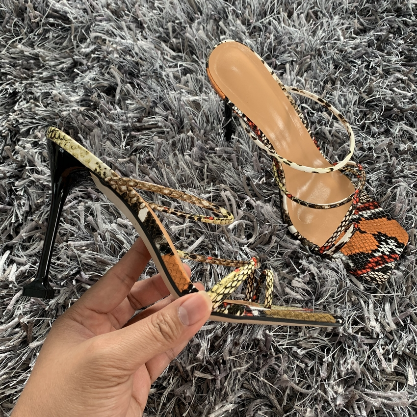 H114365544ce143a0b02672f61c154affA - Summer Pumps New Sexy Gladiator Sandals Shoes Women Thin High Heels Open Toe Sandal Lady Ankle Strap Pump Shoes Size 35-42